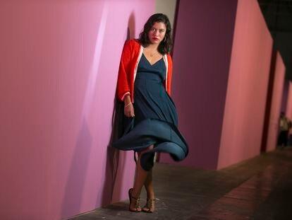 La artista Liza Ambrossio posa en Arco.