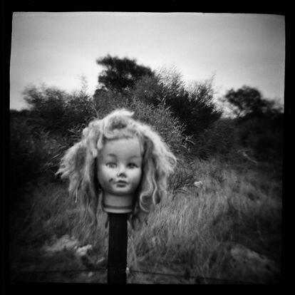 'doll´s head', de la serie 'reShooting Diana' (1990-1995).