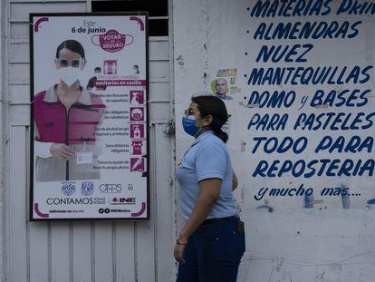 Medidas sanitarias del INE en las casillas para las elecciones del 6 de junio.