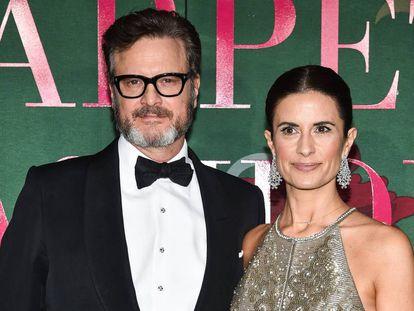 Colin Firth y Livia Giuggiolil, en la Semana de la Moda de Milan, en septiembre.