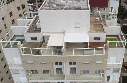 Vista del apartamento atribuido a Lula, junto a la playa de Guarujá, en São Paulo