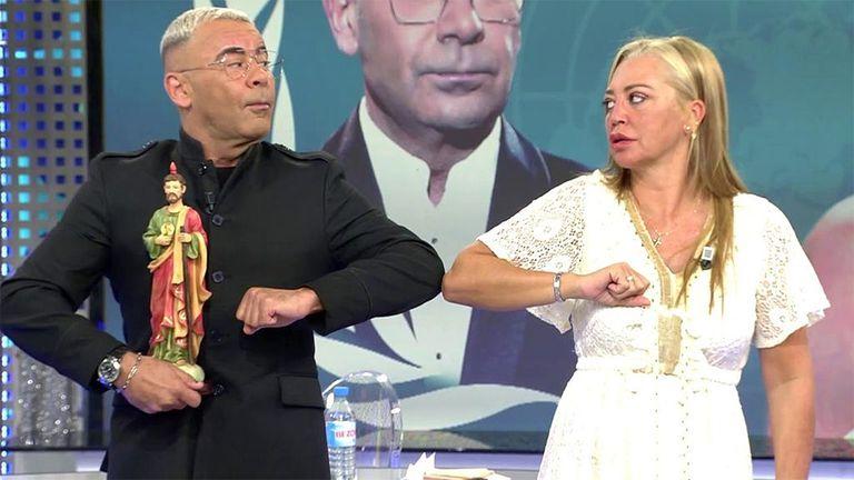 Jorge javier Vázquez y Belén Esteban, el pasado martes en 'Sálvame'.
