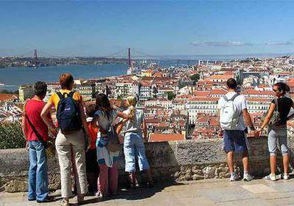 Vista de Lisboa desde el castillo de San Jorge.