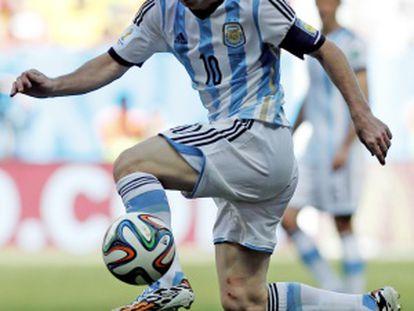 Messi, durante el partido ante Bélgica.