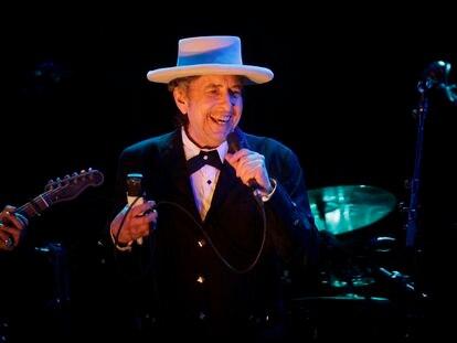 Bob Dylan, en su concierto en el festival de Benicàssim, en 2012.