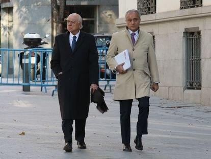 Francisco Gonzalez (izquierda), expresidente del BBVA, en una imagen de archivo.