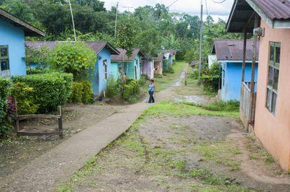 Escena de un villa en una zona rural en Costa Rica.