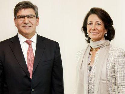 José Antonio Álvarez, consejero delegado del Santander, y Ana Botín, presidenta.