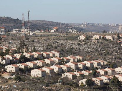 Vista del asentamieno israelí de Ofra, en Cisjordania.