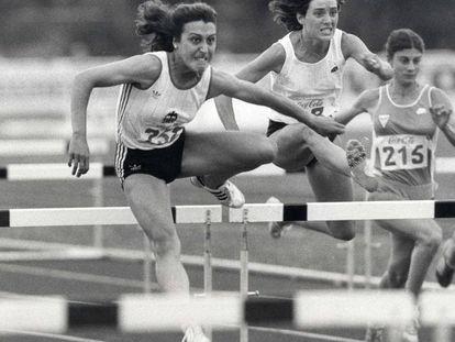 Patiño, izquierda, en el Campeonato de España de 1985.
