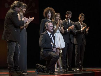 El actor José Coronado agradece el Premio Málaga recibido en reconocimiento a toda su trayectoria.