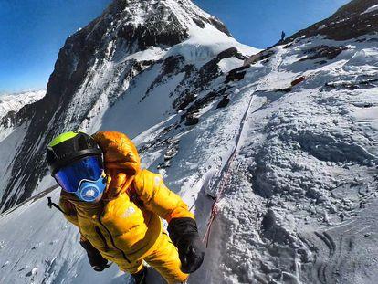 David Goettler, cerca del collado sur del Everest la pasada primavera.