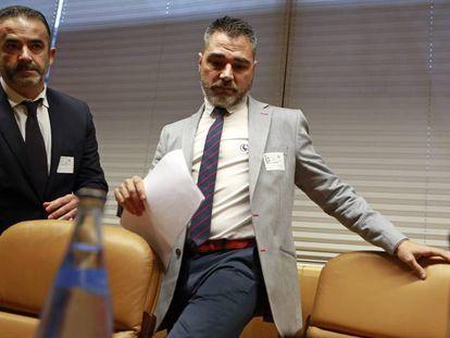 Alejandro de Pedro, en la comisión de investigación de la Asamblea de Madrid.