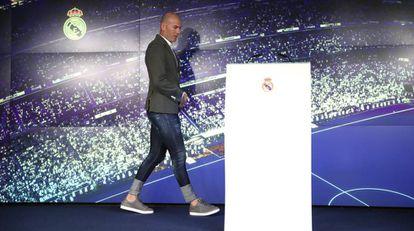 Rueda de prensa de presentación de Zidane como nuevo entrenador del Real Madrid.