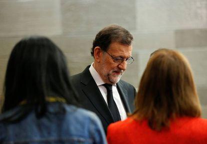 Mariano Rajoy este viernes en la Moncloa