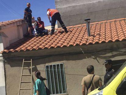 Casa del barrio de Pizarrales, de Salamanca, en la que un incendio ha provocado este miñercoles la muerte de una mujer.