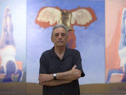 Artur Heras en la exposición de La Nau de la Universidad de Valencia.