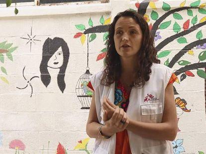 La cooperante española María Hernández, en una imagen tomada en México en 2019.