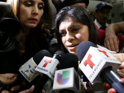 Dorotea García, a su llegada a México
