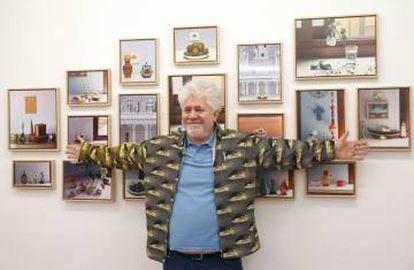 almodóvar en la presentación de su exposición en The Fresh Gallery, en 2017. |