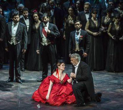 Plácido Domingo durante el tercer acto.