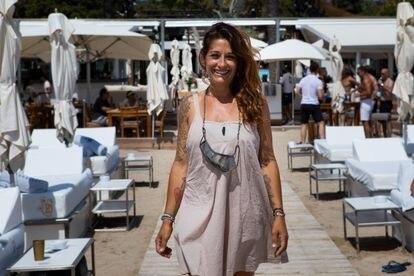 Regina Scardaccione, encargada de recepción del Blue Marlin de Ibiza.