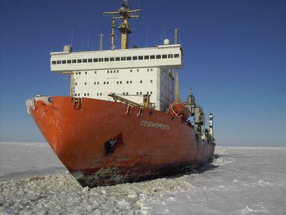 Imagen del buque ruso de propulsión nuclear 'Sevmorput'.