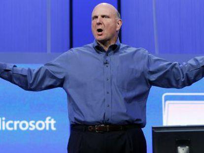 El consejero delegado de Microsoft, Steve Ballmer.