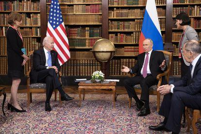 Biden y Putin en Ginebra, el pasado 16 de junio.