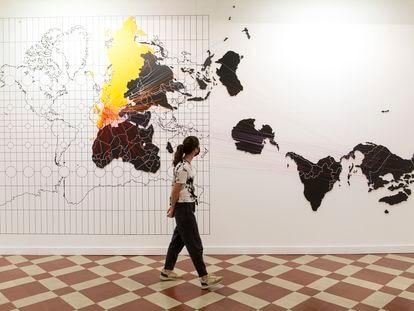 Vista de una de las salas de la exposición 'Al sur del sur', en La Térmica de Málaga.