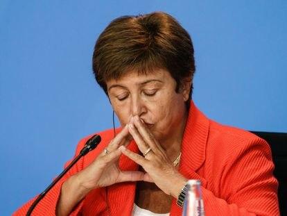 Kristalina Georgieva, la directora-gerente del Fondo Monetario Internacional, el 26 de agosto, en Berlín.