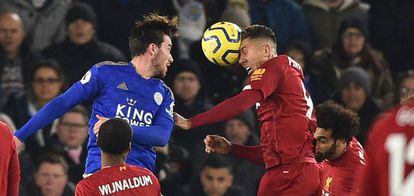 Firmino, en el momento del primer gol al Leicester.