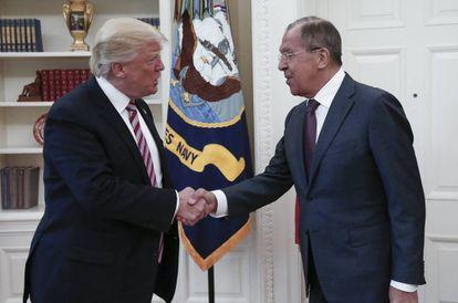 Trump y Lavrov, el ministro de Exteriores ruso