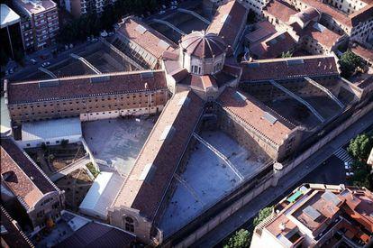 Vista aérea de la cárcel Modelo de Barcelona.