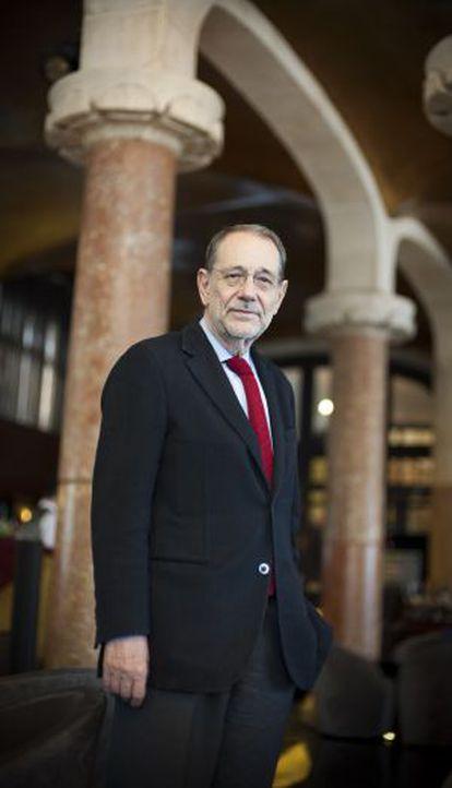 Javier Solana, en el hotel Casa Fuster de Barcelona.