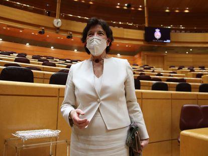 La ministra de Educación, Isabel Celaá, en el Senado en una imagen de archivo.