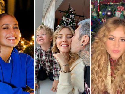 Jennifer Lopez, Chiara Ferragni con Fedez y Paulina Rubio muestran en sus redes sociales sus casas decoradas para Navidad.