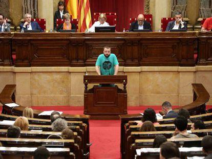 """""""Esta es una ILP de mínimos, no podemos renunciar a ninguno de los puntos"""", dice Carles Macías, portavoz de la PAH."""