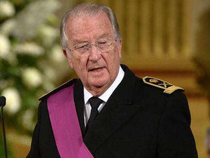El rey Alberto II de Bélgica, en su abdicación, en julio de 2013.