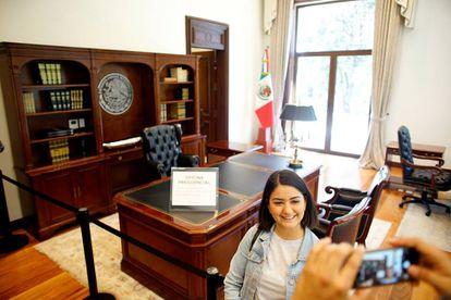 El despacho presidencial en Los Pinos.