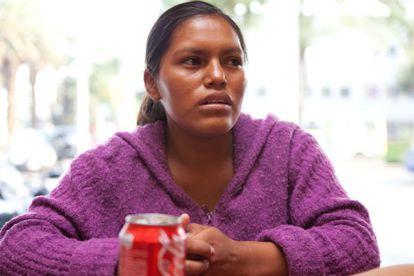 María, de 22 años, tuvo un hijo en e metro de la ciudad de México el 30 de abril.
