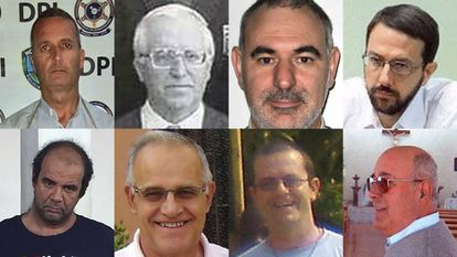 Ocho de los 18 religiosos españoles acusados de abusos que en algún momento de su trayectoria han salido al extranjero (pinche en la imagen para ver la lista completa).
