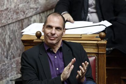 El ministro griego de Finanzas, Yanis Varoufakis, en un debate parlamentario celebrado en Atenas el 18 de marzo.