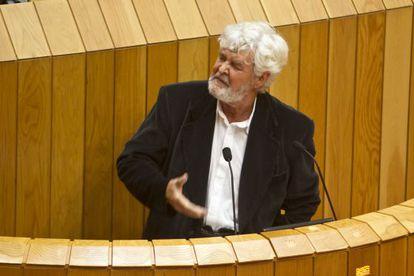 Xosé Manuel Beiras, durante el debate sobre el estado de la autonomía