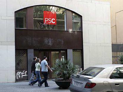 Local adquirido por el PSC al Incasol en la calle dels Àngels de Barcelona.