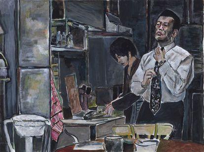 Uno de los cuadros expuestos por Bob Dylan en la galería Gogosian, en Nueva York.