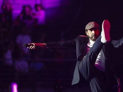 Juan Luis Guerra, en su concierto de anoche en Madrid.