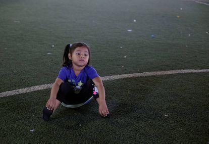 Una niña en Costa Rica.