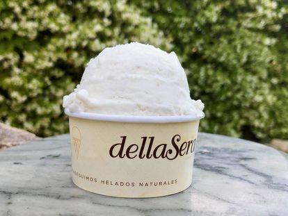 Crema helada de leche de garbanzos