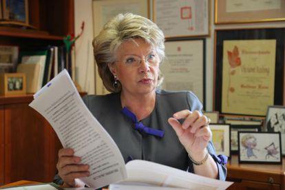 Viviane Reding, vicepresidenta de la Comisión Europea.